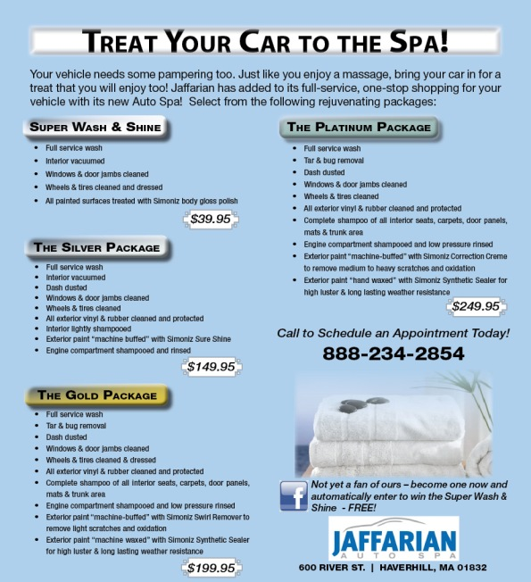 Jaffarian Auto Spa Packages
