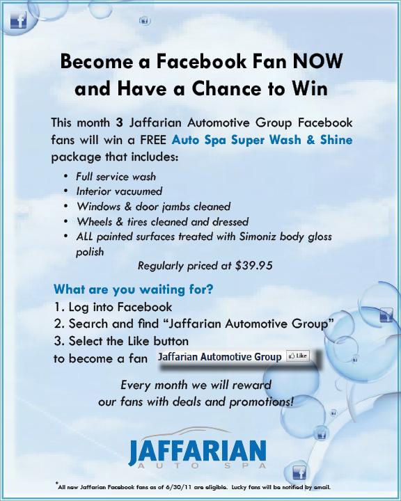 Jaffarian Auto Spa Promotion