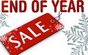 year-end sale sign