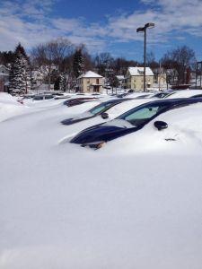 SnowCarsinLot