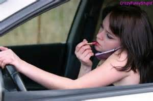 Distracted driver girl