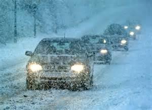 VOlvo in snowy winter