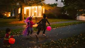Halloween on sidewalk